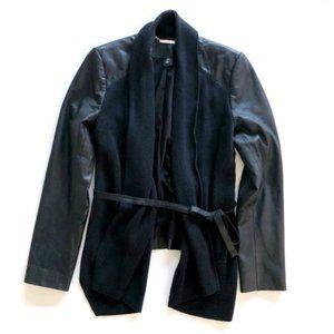 WHITE HOUSE BLACK MARKET Women's Leather Sweater
